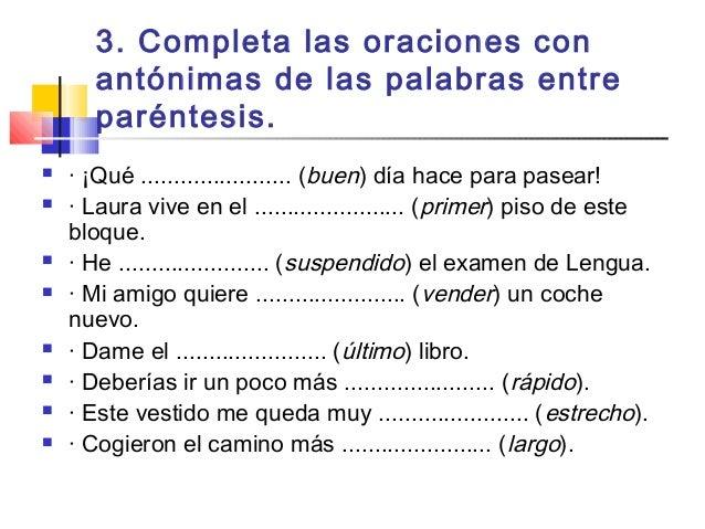 Sinónimos Y Antónimos 1