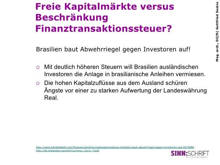 Freie Kapitalmärkte versus                                                                                                ...