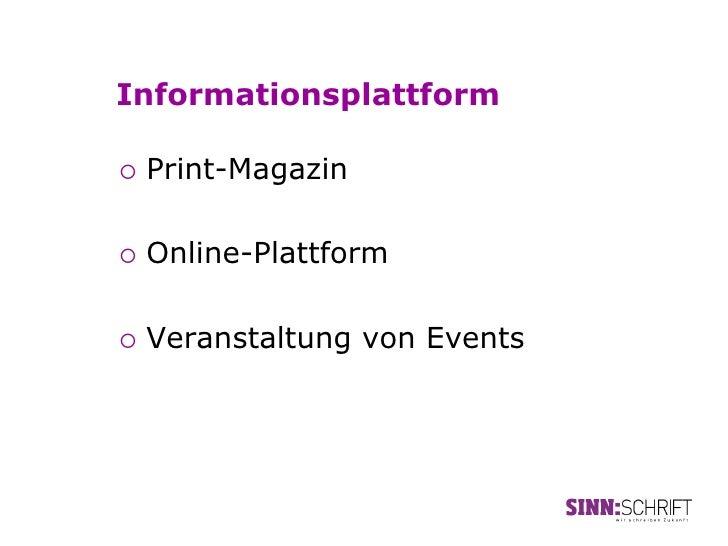 Informationsplattform¡ Print-Magazin¡ Online-Plattform¡ Veranstaltung   von Events