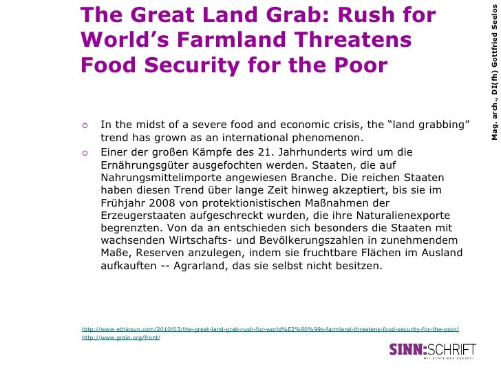 The Great Land Grab: Rush for                                                                                             ...