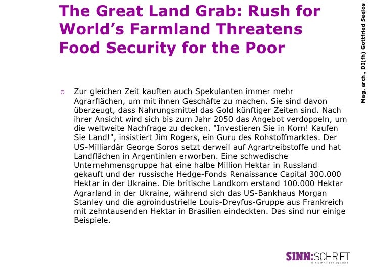 The Great Land Grab: Rush for                                                                              Mag. arch., DI(...
