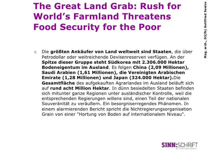 The Great Land Grab: Rush for                                                                             Mag. arch., DI(f...