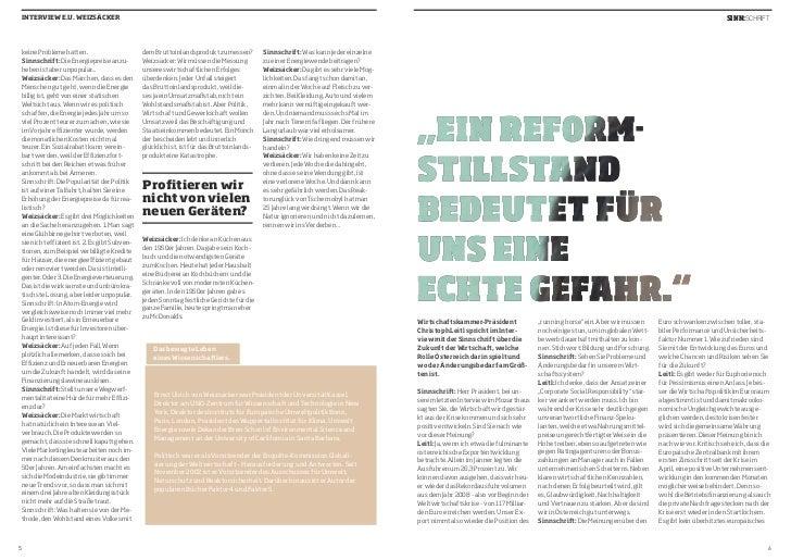 INTERVIEW E.U. WEIZSÄCKER                                                                                                 ...