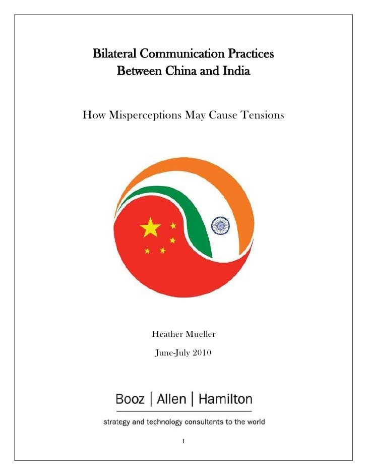 Bilateral Communication Practices Between China and IndiaHow Misperceptions May Cause Tensions<br />center2400300Heather M...