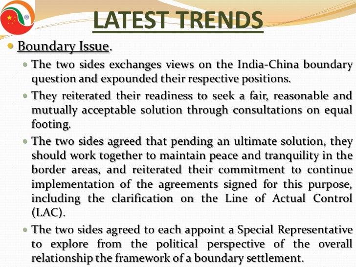 Indo-China relationship Essay