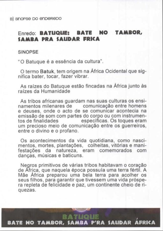 Sinopse Batuque - Carnaval Mealhada 2015