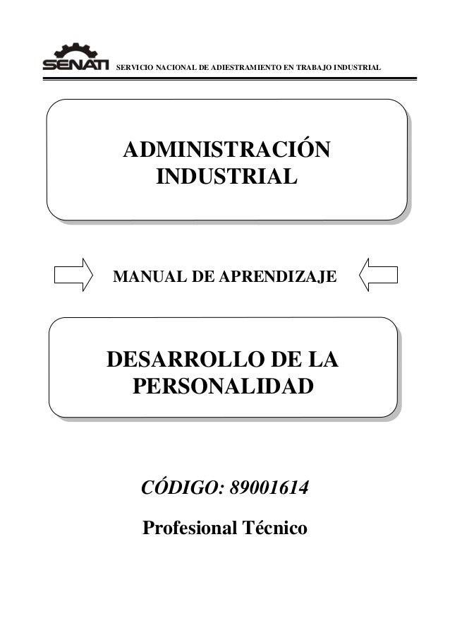 Manual senati. 89001614 desarrollo de la personalidad