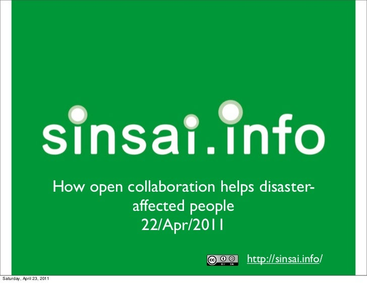 How open collaboration helps disaster-                                     affected people                                ...