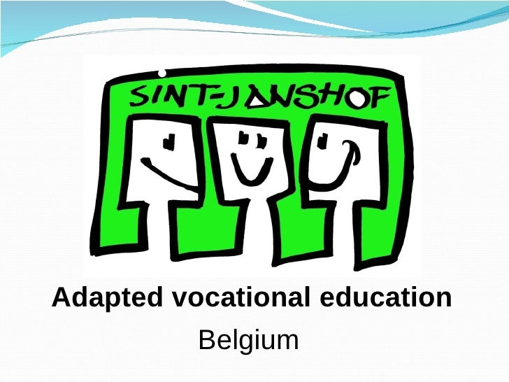 Adapted vocational education Belgium