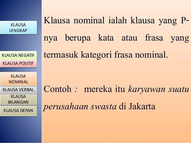 Contoh Frasa Nominal Verbal Adjektiva 600 Tips
