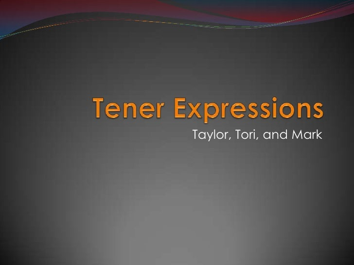 Tener Expressions<br />Taylor, Tori, and Mark<br />
