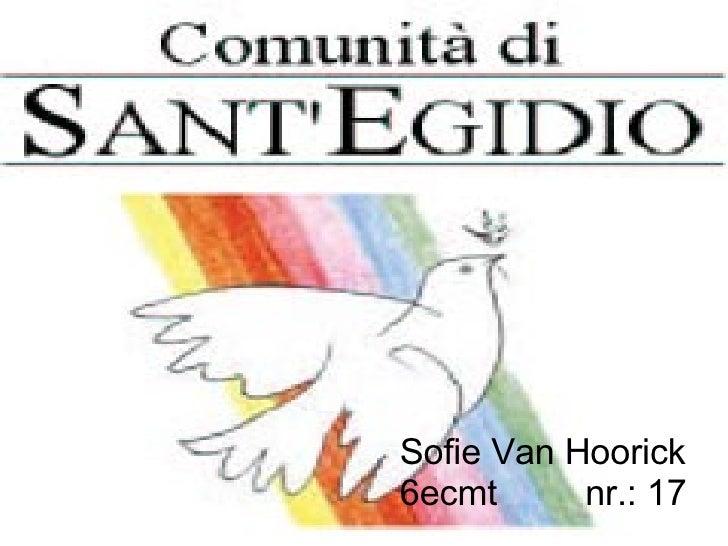 Sofie Van Hoorick 6ecmt    nr.: 17