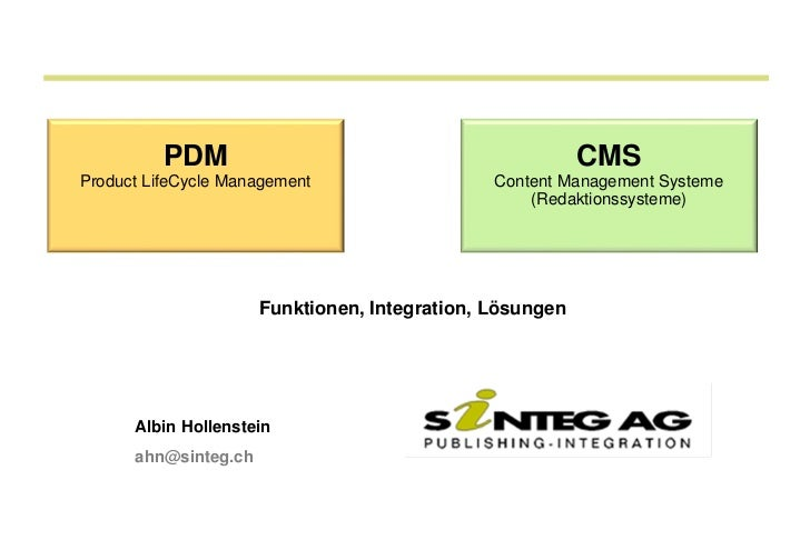 PDM                                             CMSProduct LifeCycle Management                   Content Management Syste...