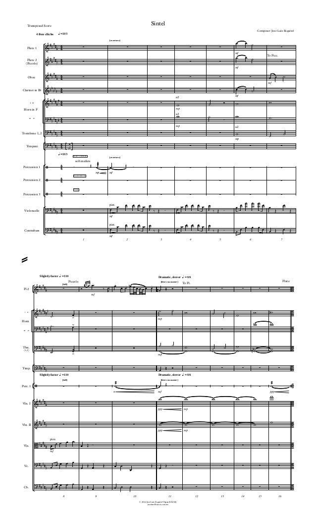 ° ¢ ° ¢ ° ¢ ° ¢ ° ¢ ° ¢ ° ¢ ° ¢ ° ¢ ° ¢ © 2014 José Luis Esquivel Virgen(SACM) joseluis@estesia.com.mx Flute 1 Flute 2 (Pi...