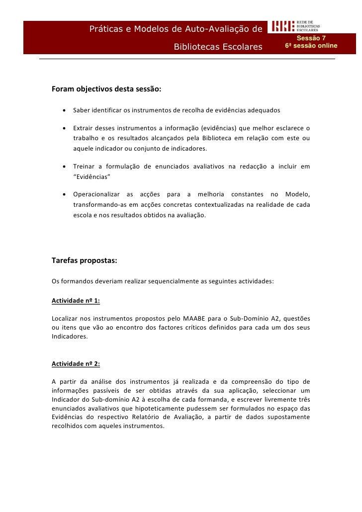 Práticas e Modelos de Auto-Avaliação de                                                                                  S...