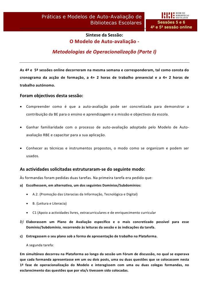 Práticas e Modelos de Auto-Avaliação de                                 Bibliotecas Escolares                             ...