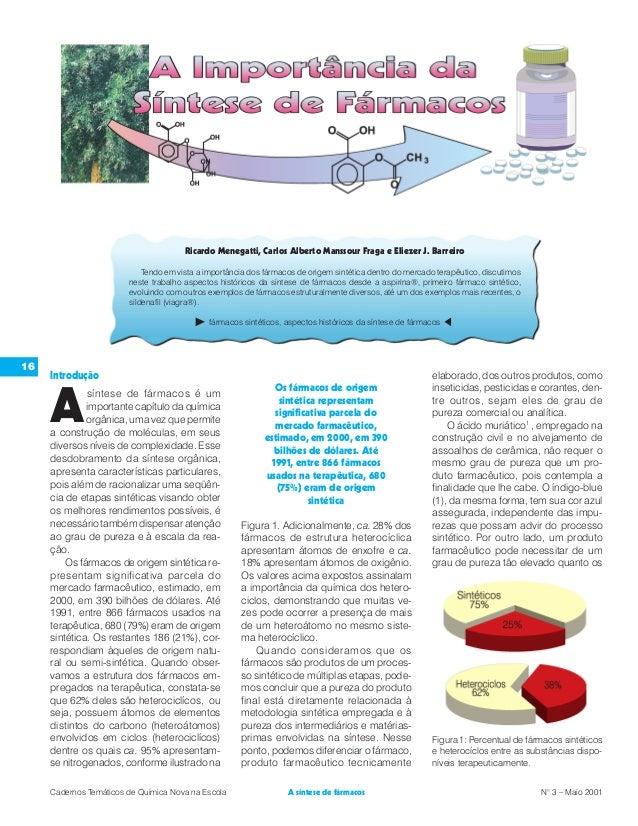 Ricardo Menegatti, Carlos Alberto Manssour Fraga e Eliezer J. Barreiro Tendo em vista a importância dos fármacos de origem...