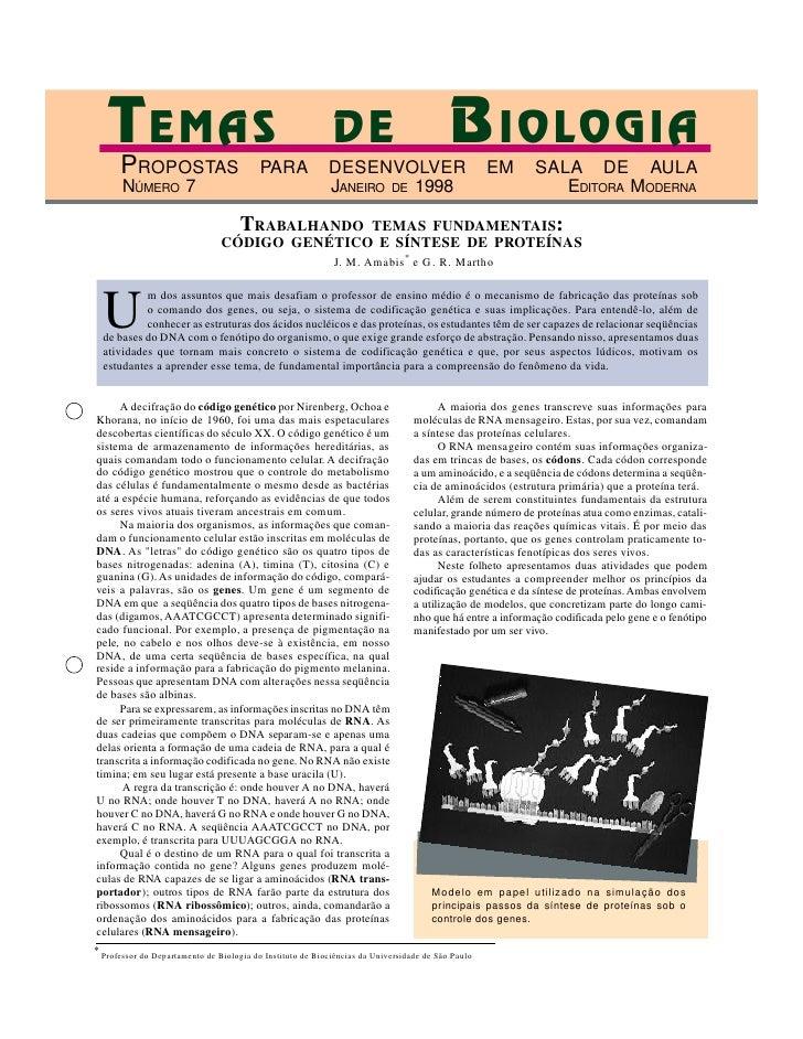 TEMAS                                                     DE                            BIOLOGIA        PROPOSTAS         ...
