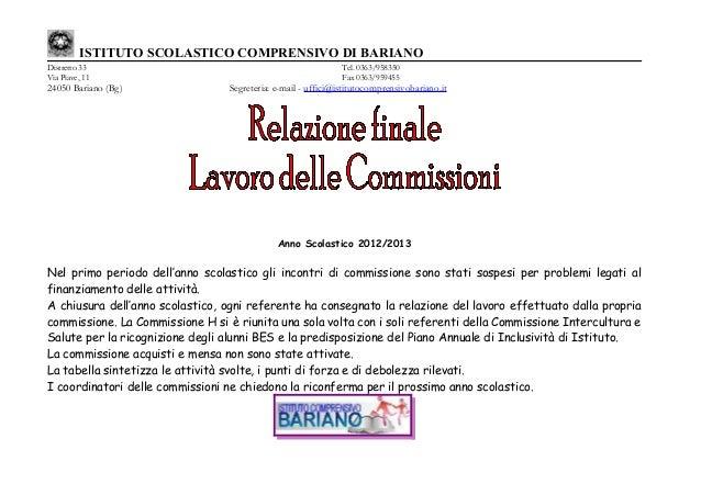 ISTITUTO SCOLASTICO COMPRENSIVO DI BARIANODistretto 33 Tel. 0363/958350Via Piave, 11 Fax 0363/95945524050 Bariano (Bg) Seg...
