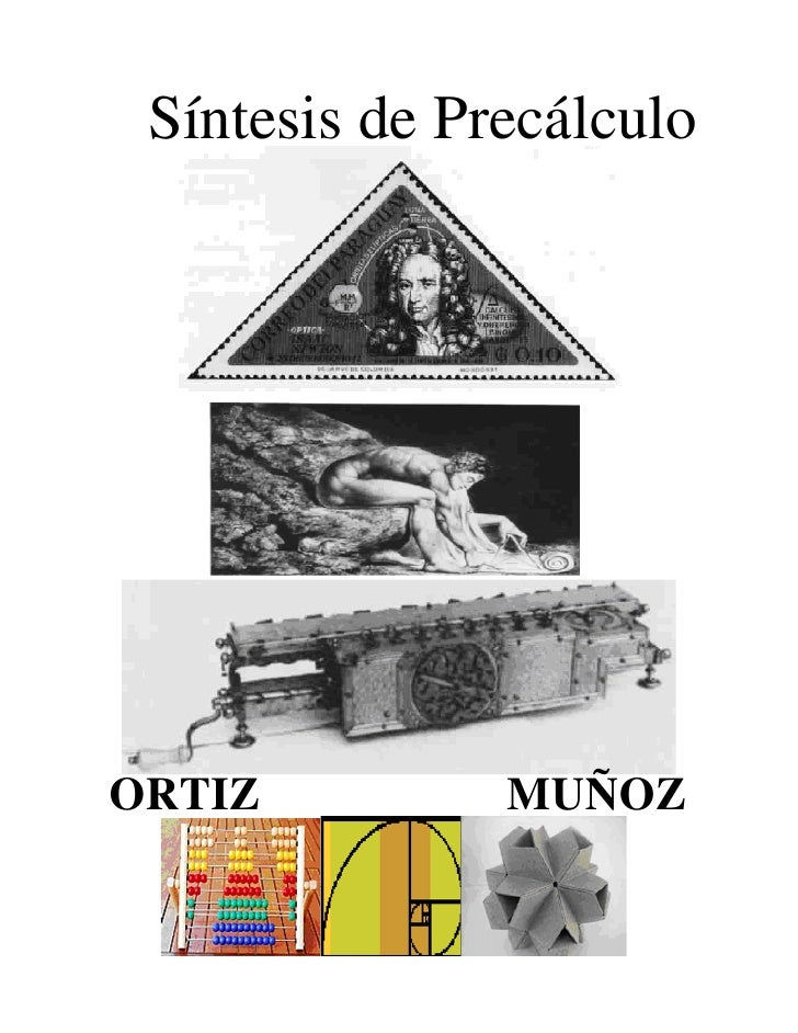 Síntesis de Precálculo     ORTIZ          MUÑOZ