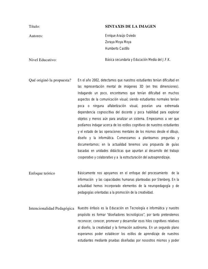 Título:                                            SINTAXIS DE LA IMAGEN  Autores:                                        ...