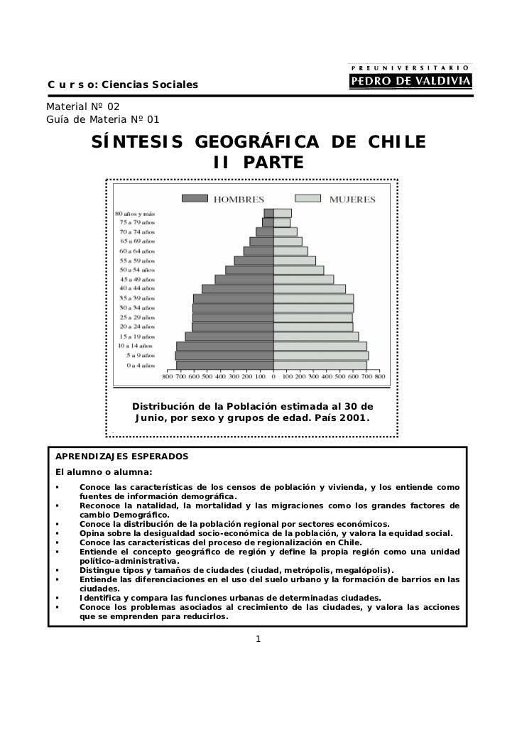 C u r s o: Ciencias SocialesMaterial Nº 02Guía de Materia Nº 01        SÍNTESIS GEOGRÁFICA DE CHILE                  II PA...
