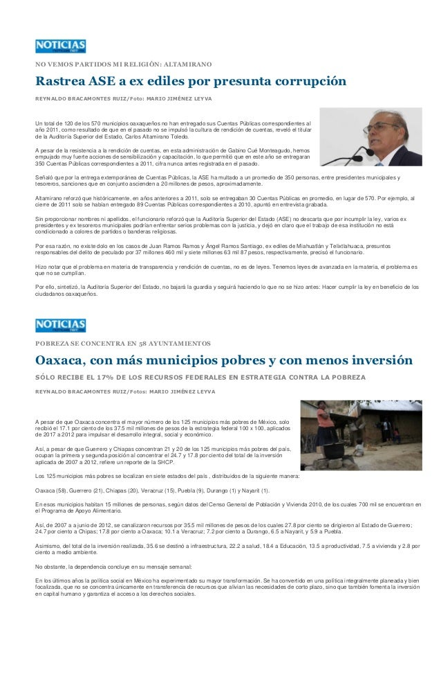NO VEMOS PARTIDOS MI RELIGIÓN: ALTAMIRANORastrea ASE a ex ediles por presunta corrupciónREYNALDO BRACAMONTES RUIZ/Foto: MA...