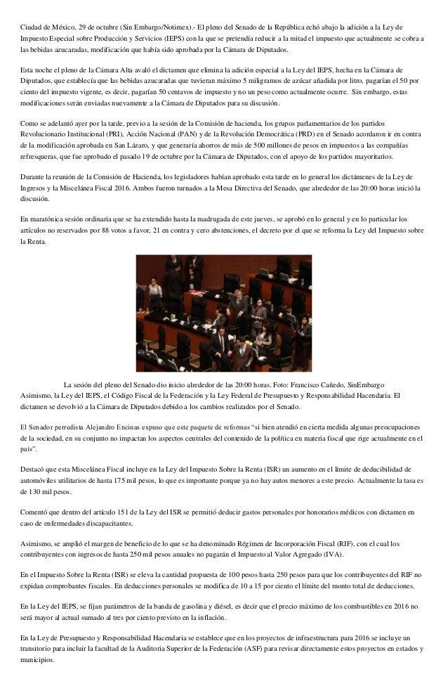 Ciudad de México, 29 de octubre (Sin Embargo/Notimex).- El pleno del Senado de la República echó abajo la adición a la Ley...