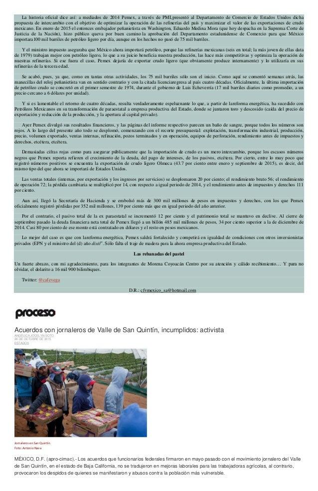La historia oficial dice así: a mediados de 2014 Pemex, a través de PMI,presentó al Departamento de Comercio de Estados Un...