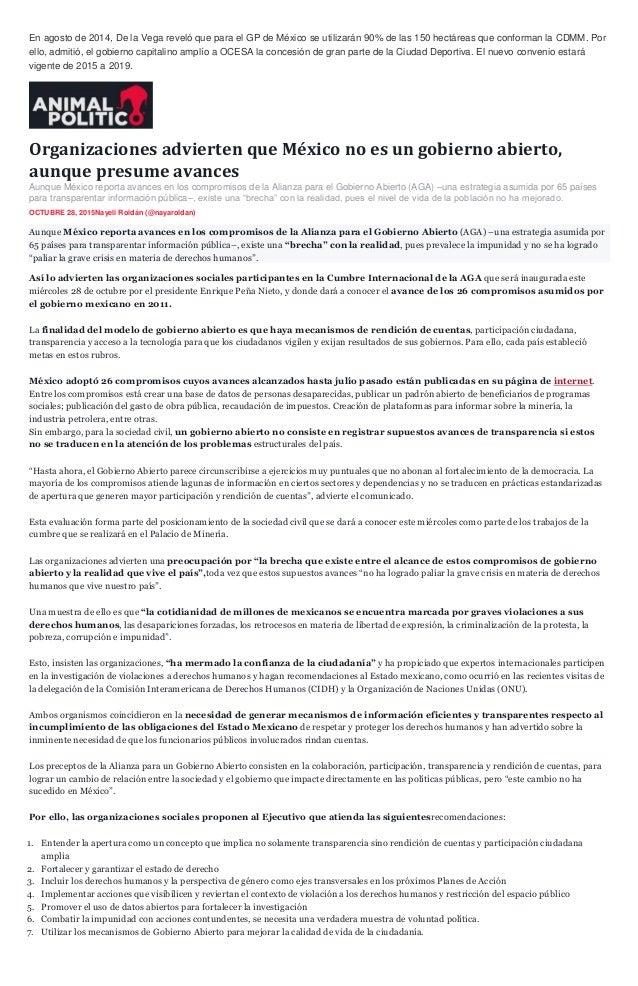 Sintesis informativa 29 octubre 2015