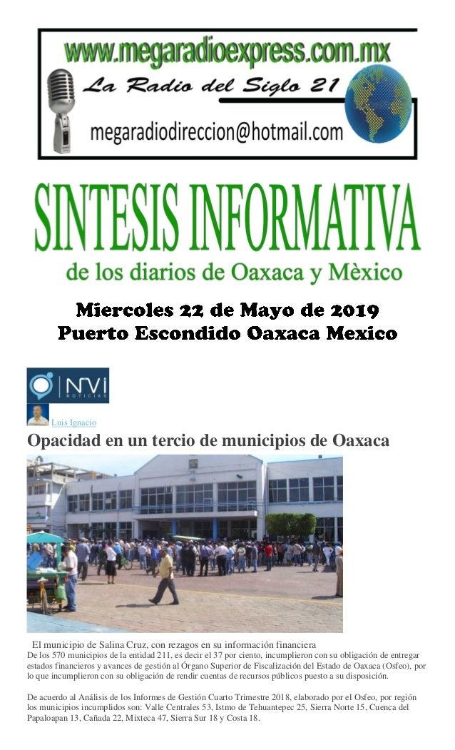76d8b646c Luis Ignacio Opacidad en un tercio de municipios de Oaxaca El municipio de  Salina Cruz, ...
