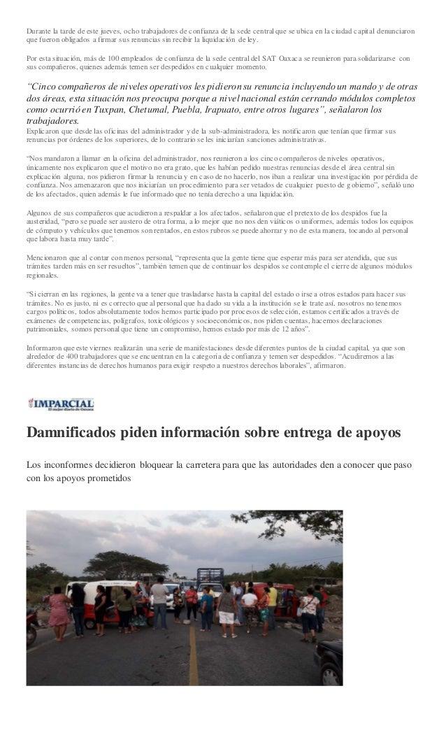 Sintesis Informativa Viernes 20 De Diciembre De 2018