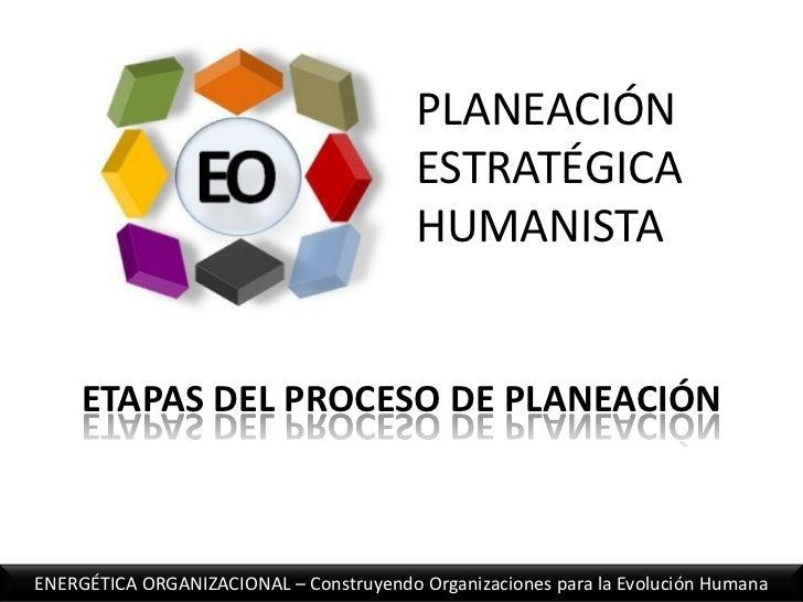 PLANEACIÓN ESTRATÉGICA HUMANISTA<br />ETAPAS DEL PROCESO DE PLANEACIÓN<br />ENERGÉTICA ORGANIZACIONAL – Construyendo Organ...