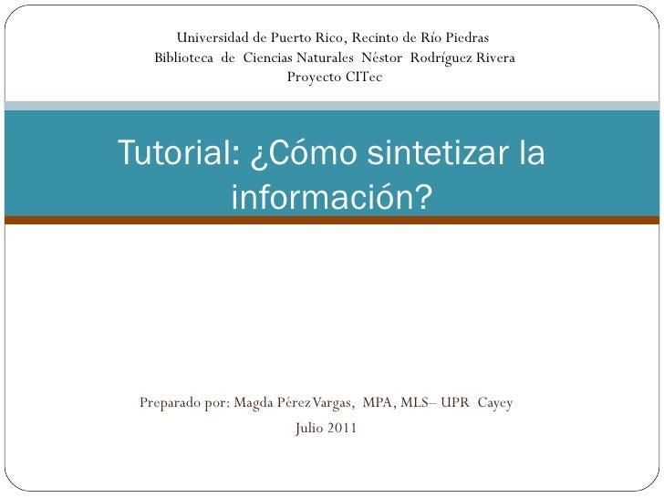 Universidad de Puerto Rico, Recinto de Río Piedras   Biblioteca de Ciencias Naturales Néstor Rodríguez Rivera             ...