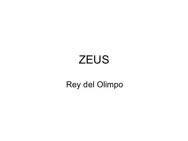 ZEUSRey del Olimpo