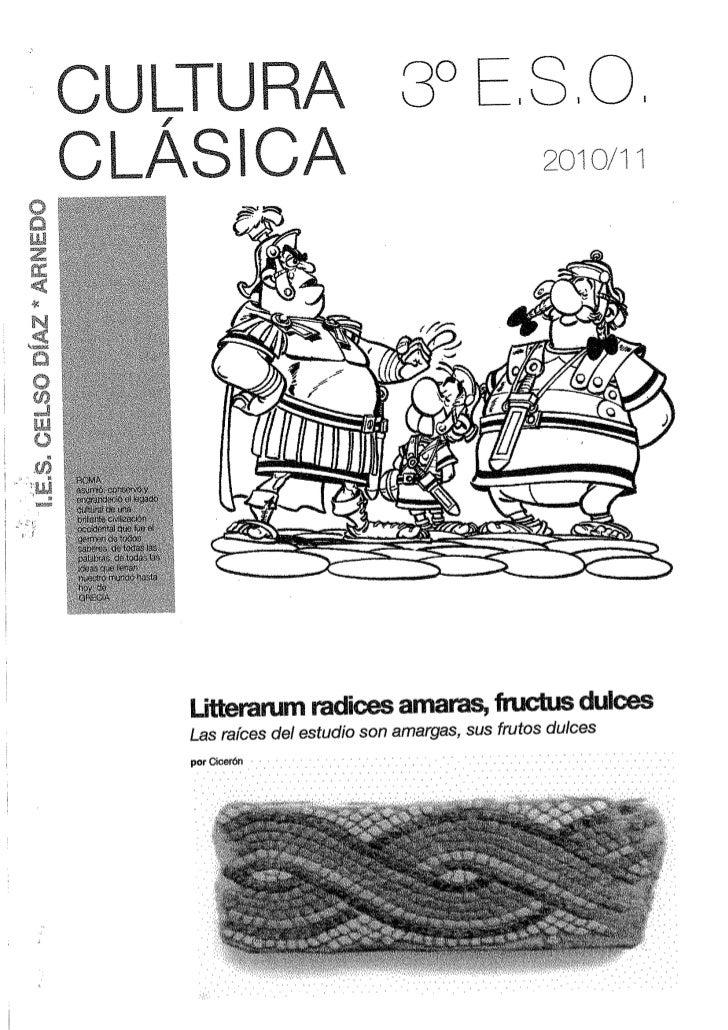 Cultura Clásica, 3º