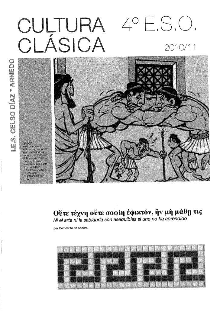 Cultura Clásica, 4º
