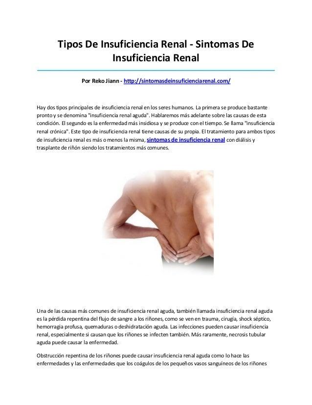 Tipos De Insuficiencia Renal - Sintomas DeInsuficiencia Renal_____________________________________________________________...