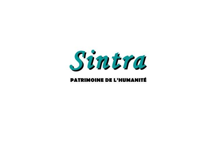 Sintra PATRIMOINE DE L'HUMANITÉ