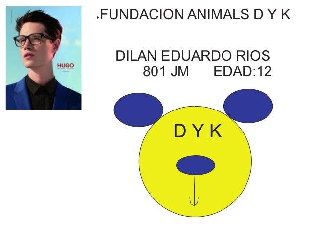 FFUNDACION ANIMALS D Y K  DILAN EDUARDO RIOS  801 JM EDAD:12  D Y K