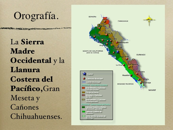 Image result for orografía de sinaloa