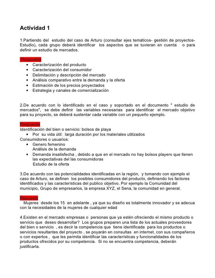 Actividad 11.Partiendo del estudio del caso de Arturo (consultar ejes temáticos- gestión de proyectos-Estudio), cada grupo...