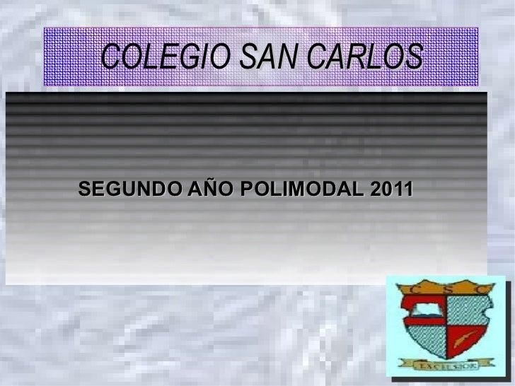 SEGUNDO AÑO POLIMODAL 2011 COLEGIO   SAN CARLOS