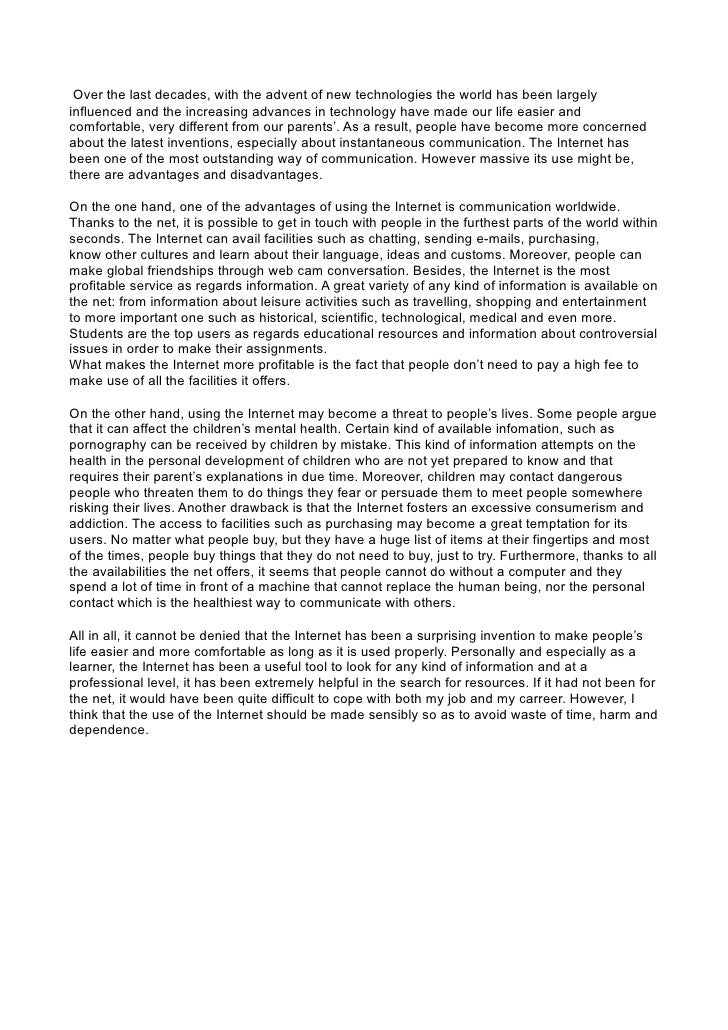 how technology has changed our lives essay pdf
