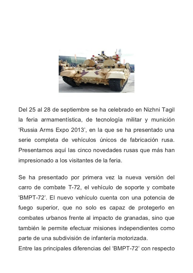 Del 25 al 28 de septiembre se ha celebrado en Nizhni Tagil la feria armamentística, de tecnología militar y munición 'Russ...