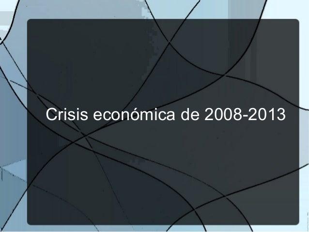 Crisis económica de 2008-2013