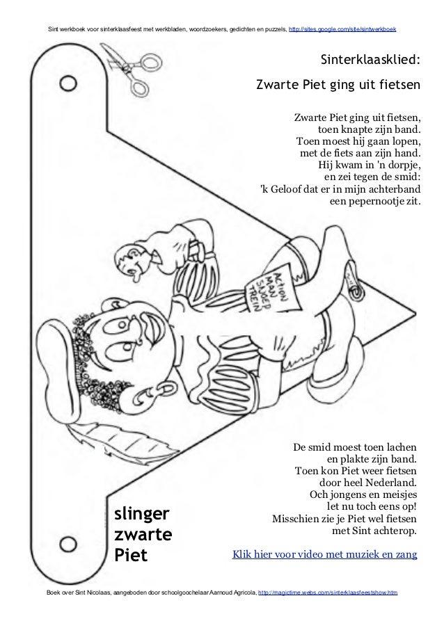 Gedichten Kleurplaten.Sint Werkboek Met Sinterklaas Werkbladen En Activiteiten