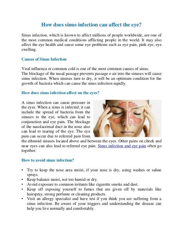 Does sinus infection cause vertigo