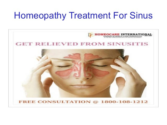 Homeopathy Treatment For Sinus