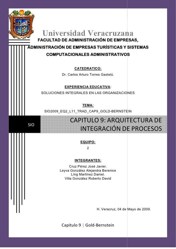 mayo CAPITULO 9: ARQUITEC             ARQUITECTURA DE INTEGRACION DE PROCESOS                                             ...